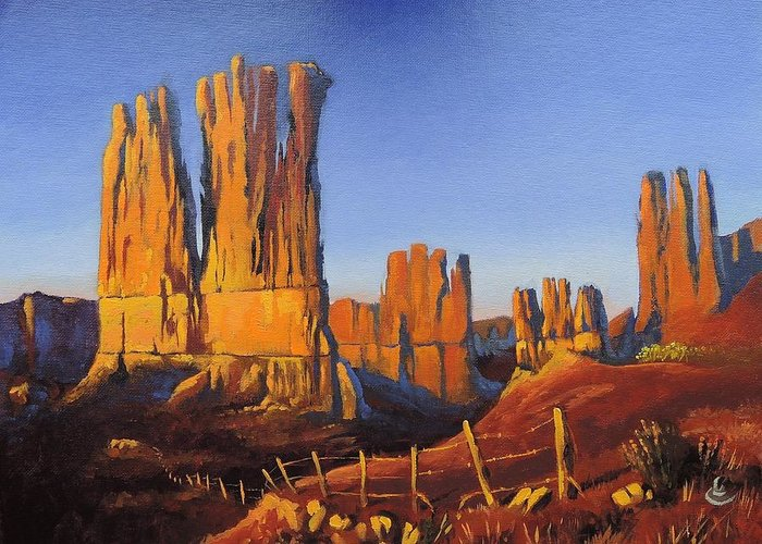 Grand Canyon Greeting Card featuring the painting Grand Canyon by Russell Rafferty