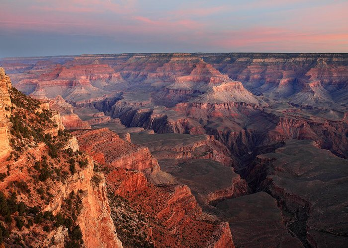 Grand Canyon Greeting Card featuring the photograph Grand Canyon Sunrise by Pierre Leclerc Photography