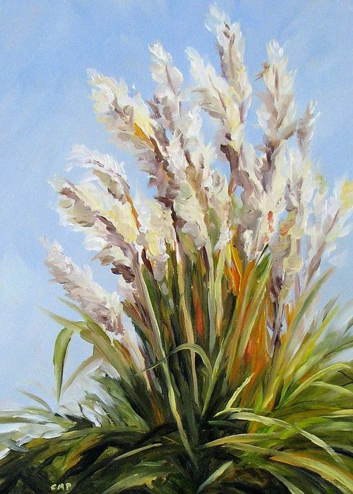 Daily Painting Greeting Card featuring the painting Grand Pampas by Cheryl Pass