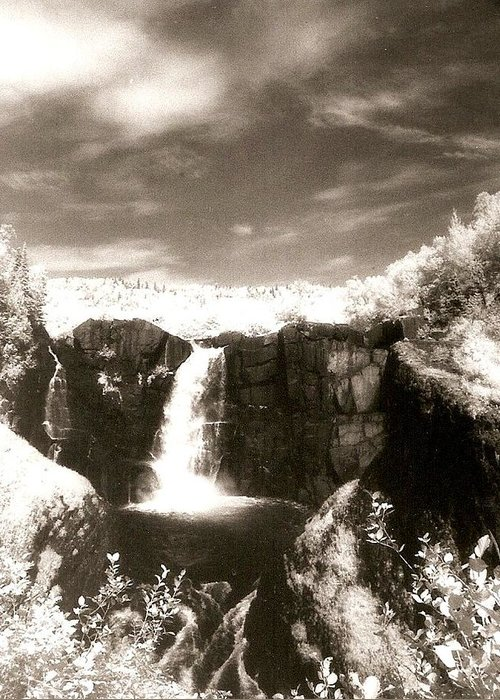 Photograph Greeting Card featuring the photograph Grand Portage Falls by Patricia Bigelow