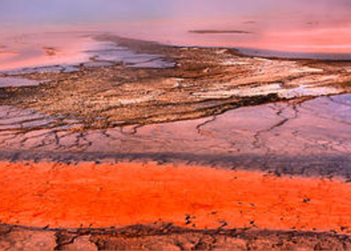 Grand Prismatic Greeting Card featuring the photograph Grand Prismatic Panoramic Abstract by Adam Jewell
