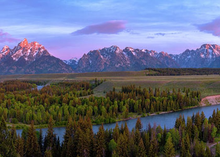 Grand Tetons Greeting Card featuring the photograph Grand Tetons by Chad Dutson