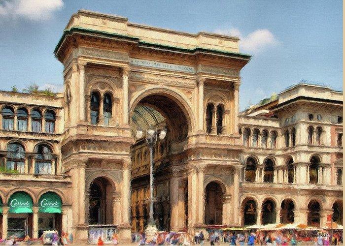 Italian Shopping Digital Art Greeting Cards