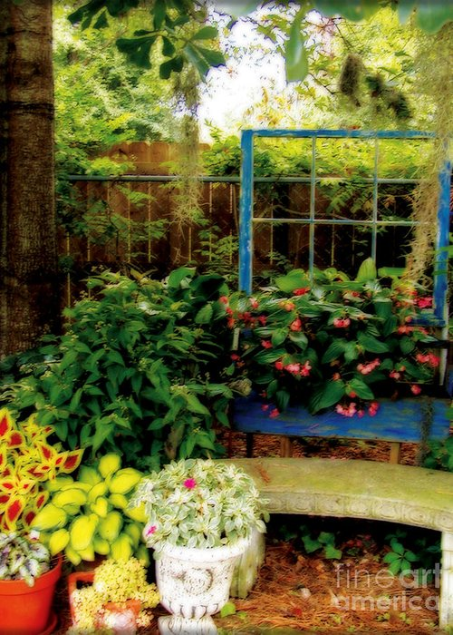Garden Greeting Card featuring the photograph Grandmother's Dream by Laura Brightwood