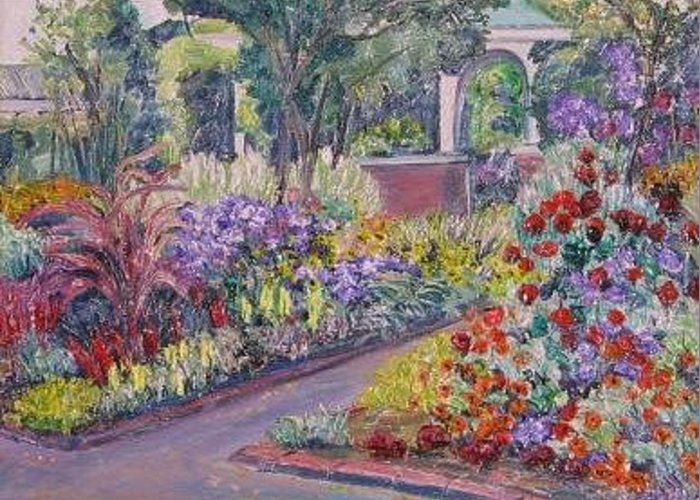 Flowers Greeting Card featuring the painting Grandmothers by Richard Nowak