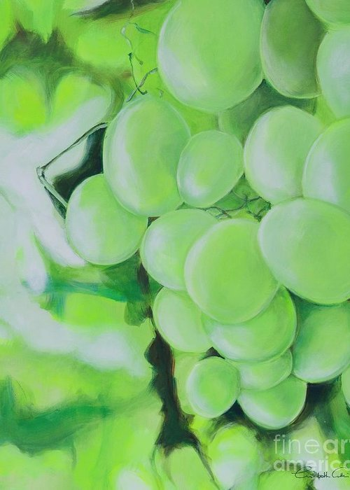 Grapes Greeting Card featuring the digital art Grapes by Elisabeth Skajem Atter