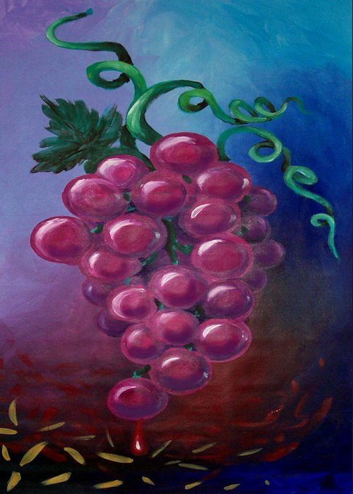 Grape Greeting Card featuring the painting Grapes by Kevin Middleton