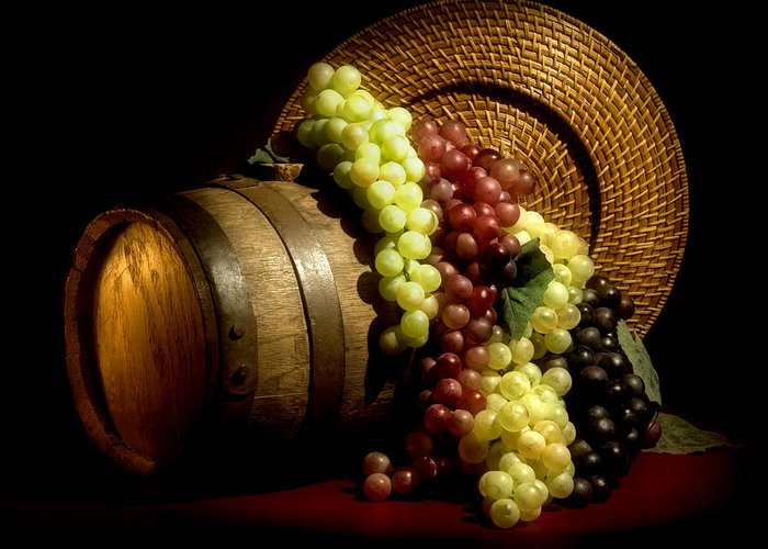 Aged Greeting Card featuring the photograph Grapes Of Wine by Tom Mc Nemar