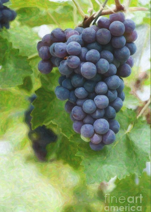 Bunch Of Grapes Digital Art Greeting Cards