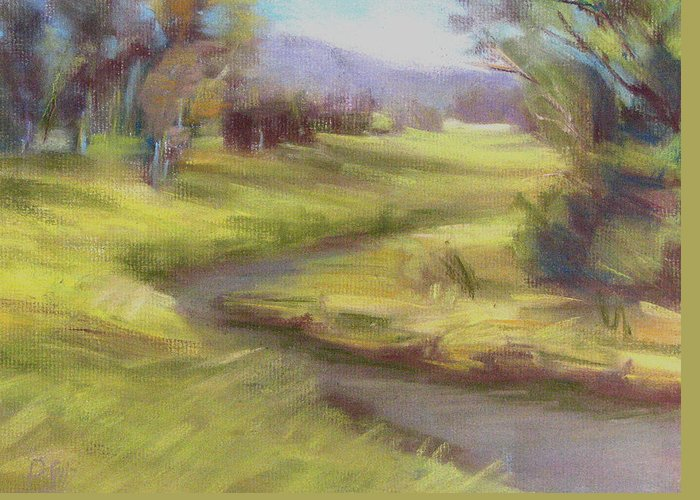 Patricia Seitz Greeting Card featuring the painting Grassy Meadow by Patricia Seitz