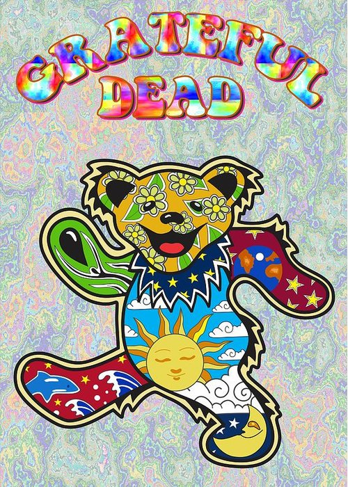 Grateful dead greeting card for sale by troy arthur graphics grateful dead greeting card featuring the digital art grateful dead by troy arthur graphics m4hsunfo Choice Image
