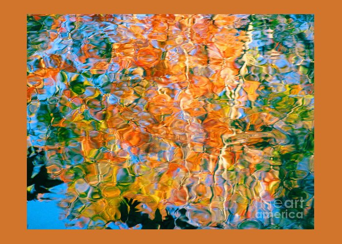 Colorful Liquid Greeting Card featuring the photograph Grateful Heart by Sybil Staples