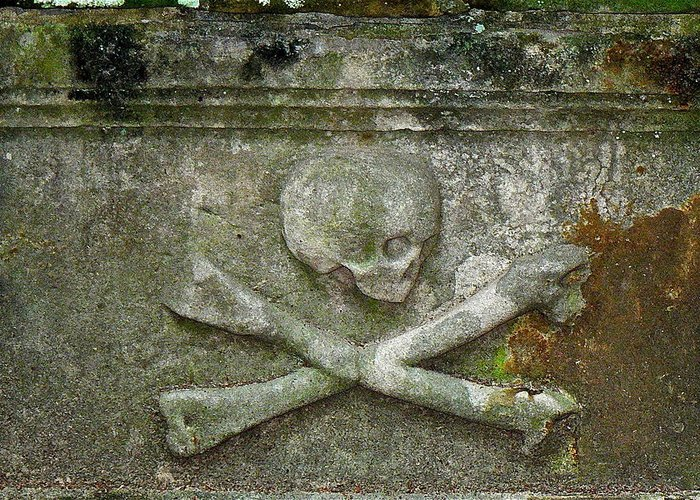 Grave Greeting Card featuring the photograph Grave Business 2 by Robert Joseph