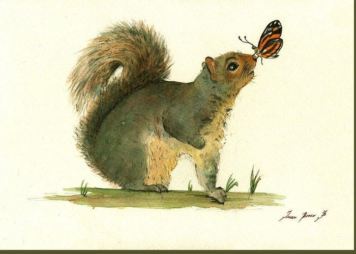 Grey Squirrel Greeting Cards