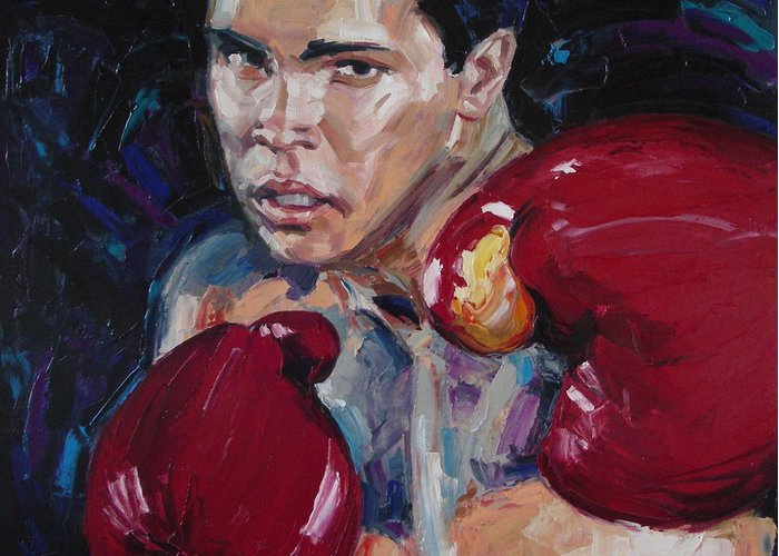 Figurative Greeting Card featuring the painting Great Ali by Sergey Ignatenko