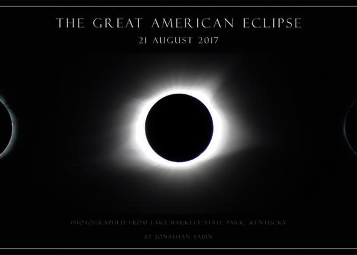 Great American Eclipse Greeting Card featuring the photograph Great American Eclipse - Triptych by Jonathan Sabin