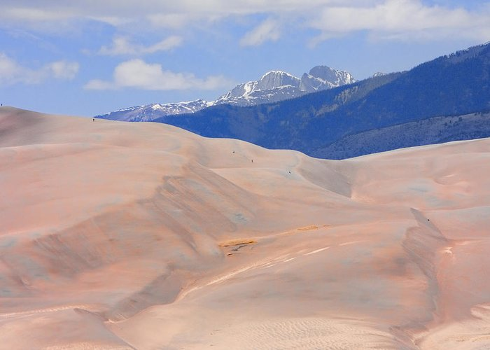 the Great Colorado Sand Dunes Greeting Card featuring the photograph Great Colorado Sand Dunes by James BO Insogna