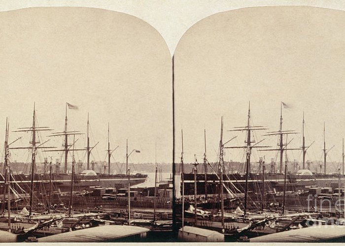 1858 Greeting Card featuring the photograph Great Eastern 1859 by Granger
