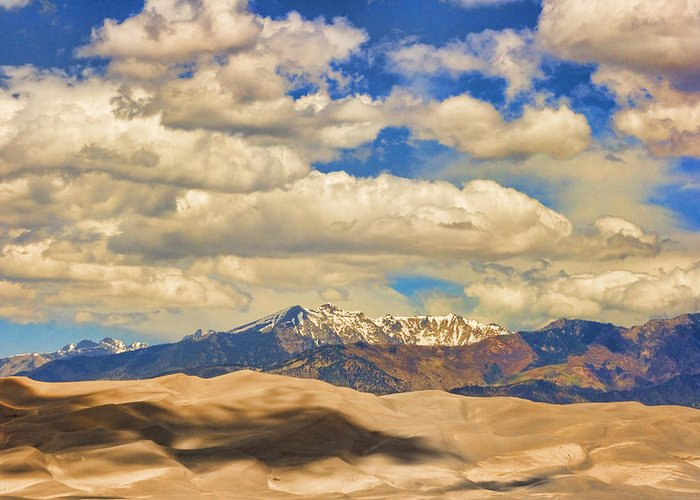 the Great Colorado Sand Dunes Greeting Card featuring the photograph Great Sand Dunes National Monument by James BO Insogna