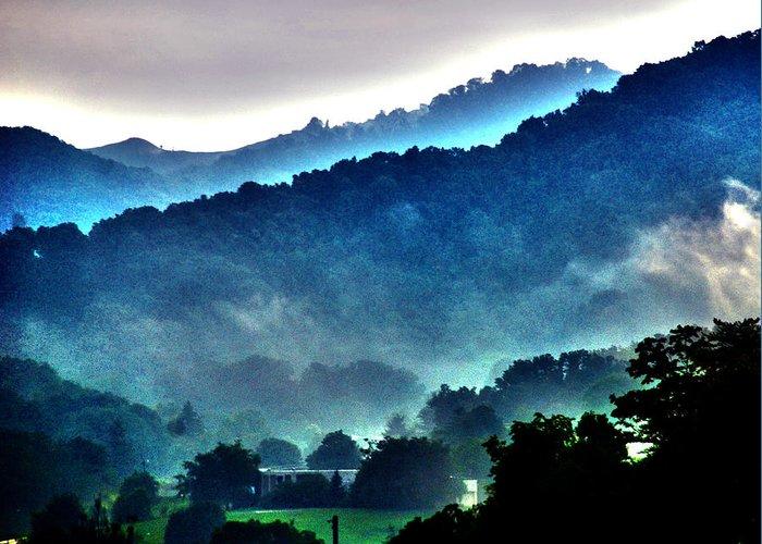 Great Smokey Mountains Greeting Card featuring the photograph Great Smokey Mountains by Susanne Van Hulst