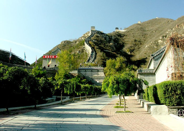Landscape Greeting Card featuring the photograph Great Wall Of China by Ralph Perdomo