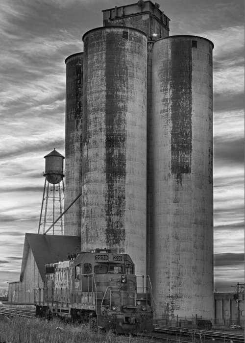Great Greeting Card featuring the photograph Great Western Sugar Mill Longmont Colorado Bw by James BO Insogna