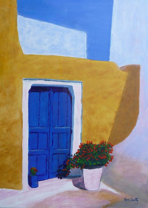 Greece Greeting Card featuring the painting Greece Painting by Rae Smith