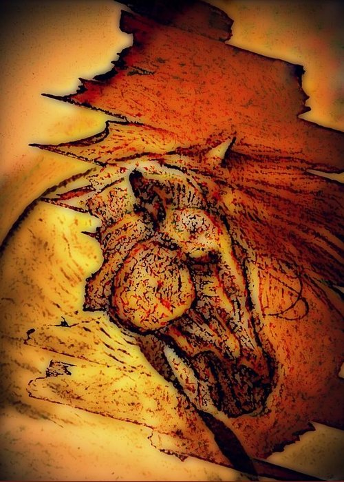 Greek Horse Greeting Card featuring the digital art Greek Horse by Paulo Zerbato