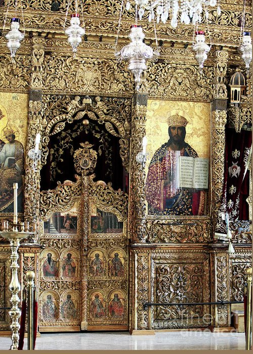 Greek Orthodox Alter Greeting Card featuring the photograph Greek Orthodox Alter by John Rizzuto