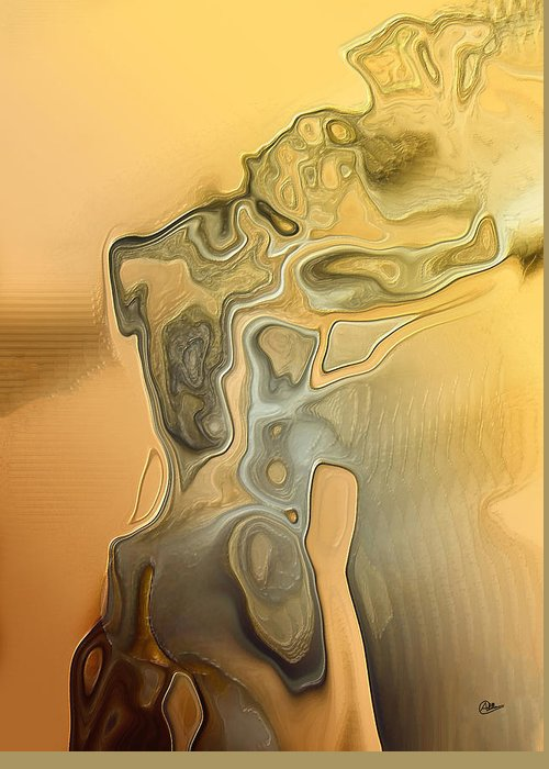 Abstract Greeting Card featuring the digital art Greek Statue by Joaquin Abella