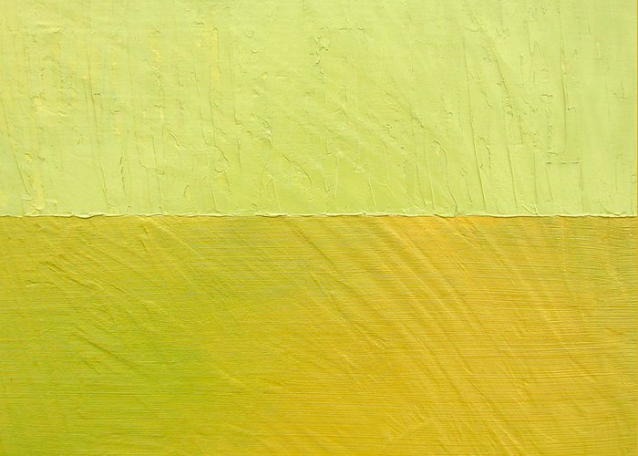 Pea Greeting Card featuring the painting Green And Greenish by Michelle Calkins