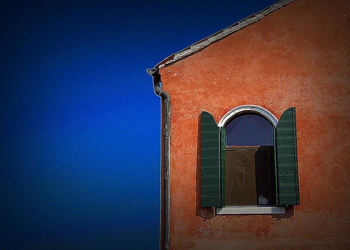 Travel Greeting Card featuring the photograph Green Shutters by James Zuffoletto