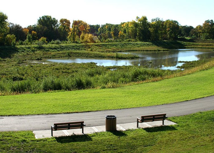 Landscape Greeting Card featuring the photograph Greenway by Steve Augustin