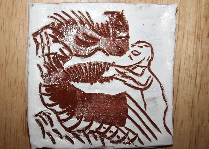 Gloria Photosgloria Photospineapple2pineapple Greeting Card featuring the ceramic art Greeting 9 - Tile by Gloria Ssali