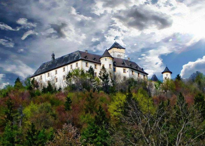Greifenstein Greeting Card featuring the photograph Greifenstein Castle by Anthony Dezenzio