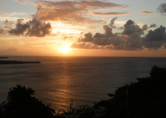 Grenada Greeting Card featuring the photograph Grenadian Sunset I by Jean Macaluso