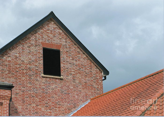 Brick Greeting Card featuring the photograph Grey Skyline by Ann Horn