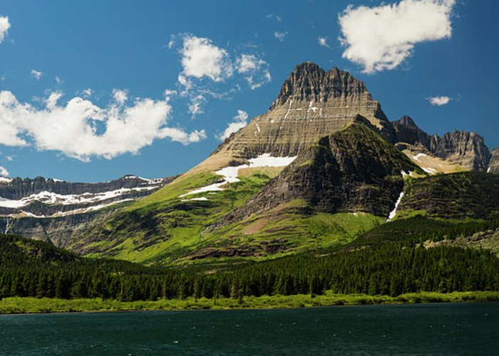 Gnp Greeting Card featuring the photograph Grinell Mountain by Craig Tata