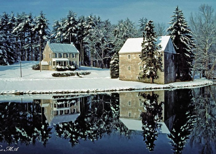 Grings Mill Recreation Area Greeting Card featuring the photograph Grings Mill Snow 001 by Scott McAllister