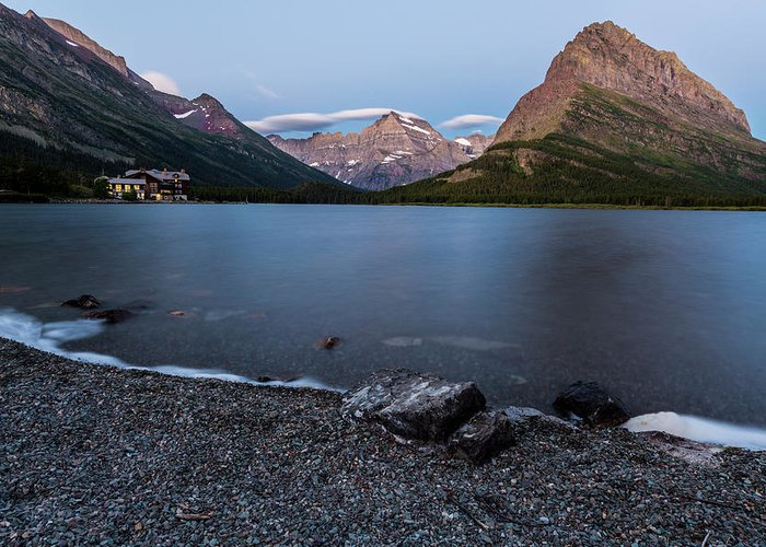 Gnp Greeting Card featuring the photograph Grinnell Point Over Swiftcurrent Lake by Craig Tata