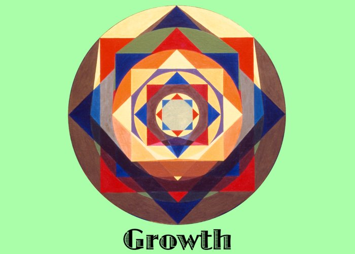 Painting Greeting Card featuring the painting Growth text by Michael Bellon