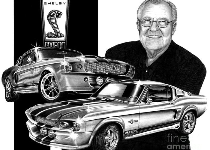 Gt 500 Greeting Card featuring the drawing Gt 500c by Peter Piatt