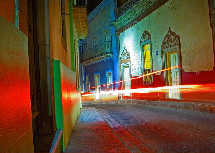 Shadow Greeting Card featuring the photograph Guanajuato Night by Skip Hunt