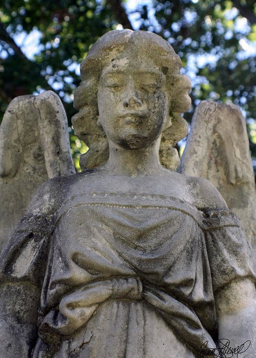 Angel Greeting Card featuring the photograph Guardian Angel by Anna Dewell