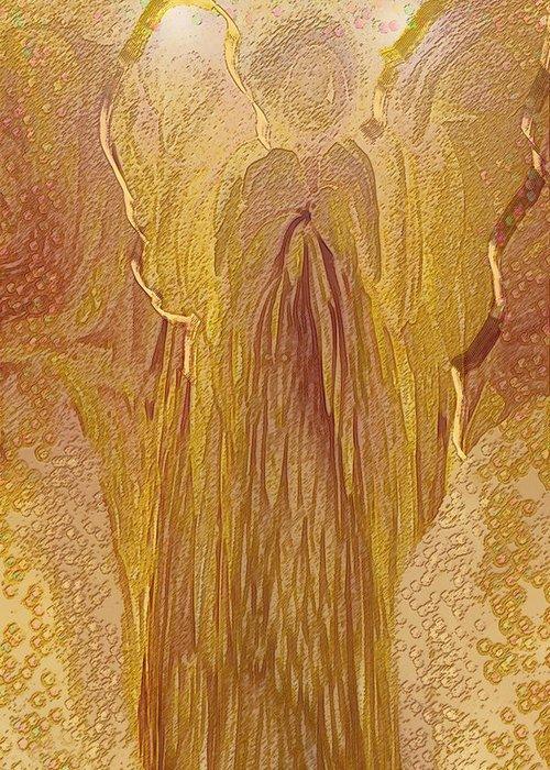 Digital Art Greeting Card featuring the digital art Guardian Angel by Linda Sannuti