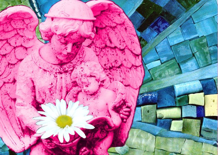 Pink Greeting Card featuring the photograph Guardian Angel by Valerie Fuqua