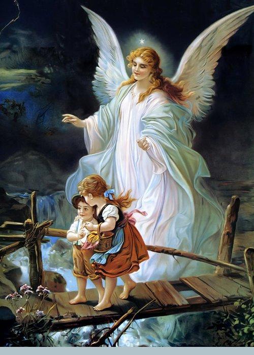 Heilige Schutzengel Greeting Cards