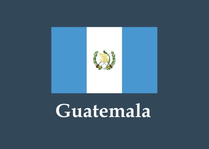 guatemala flag and name greeting card for sale by frederick holiday