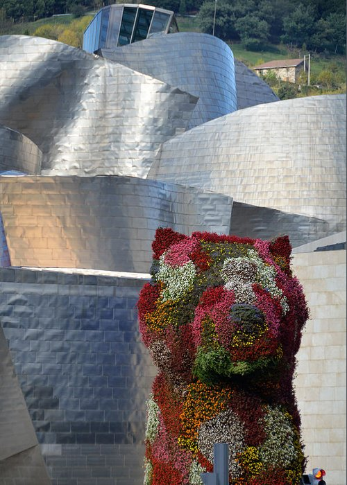 Guggenheim Greeting Card featuring the photograph Guggenheim Museum Bilbao - 2 by RicardMN Photography