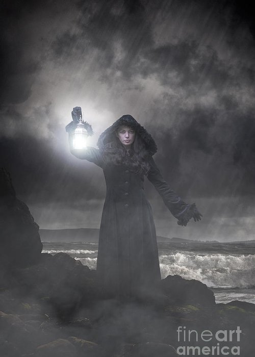 Woman Greeting Card featuring the photograph Guiding Light by Clayton Bastiani